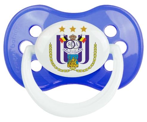 Royal Sporting Club Anderlecht + prénom : Bleu classique embout anatomique