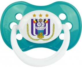 Royal Sporting Club Anderlecht + prénom : Turquoise classique embout anatomique