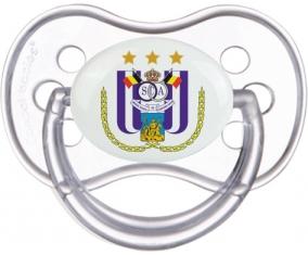 Royal Sporting Club Anderlecht + prénom : Transparente classique embout anatomique