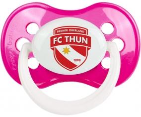 FC Thoune + prénom : Rose foncé classique embout anatomique