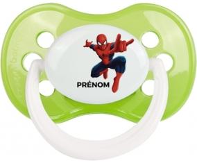 Spiderman + prénom : Vert classique embout anatomique