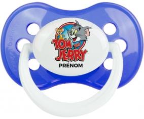 Tom & Jerry + prénom : Bleu classique embout anatomique