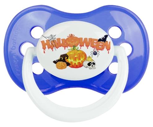 Halloween style 2 + prénom : Bleu classique embout anatomique