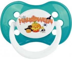 Halloween style 2 + prénom : Turquoise classique embout anatomique