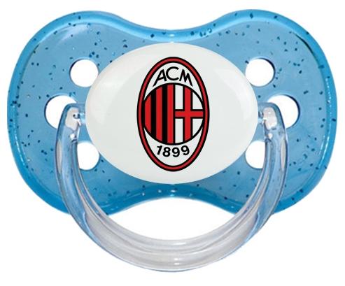 Ac Milan + prénom : Bleu à paillette embout cerise