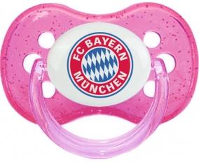 FC Bayern Munchen + prénom : Rose à paillette embout cerise