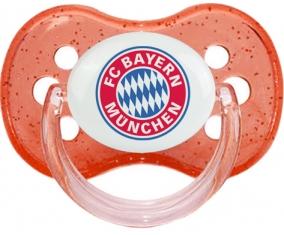 FC Bayern Munchen + prénom : Rouge à paillette embout cerise