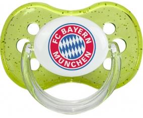 FC Bayern Munchen + prénom : Vert à paillette embout cerise