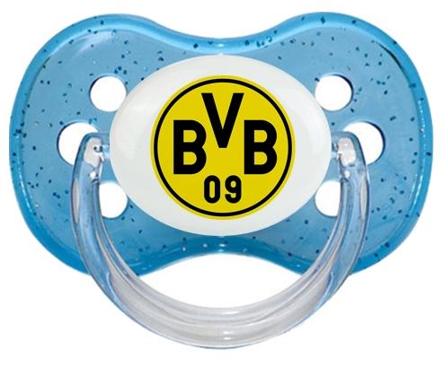 BV 09 Borussia Dortmund + prénom : Bleu à paillette embout cerise