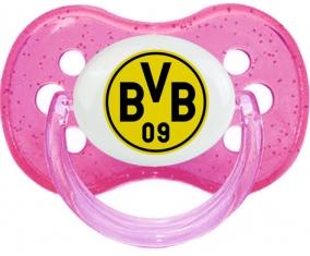 BV 09 Borussia Dortmund + prénom : Rose à paillette embout cerise