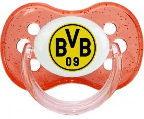 BV 09 Borussia Dortmund + prénom : Rouge à paillette embout cerise