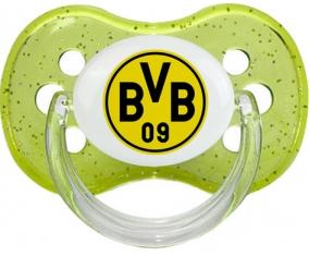 BV 09 Borussia Dortmund + prénom : Vert à paillette embout cerise