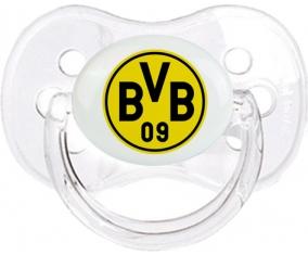 BV 09 Borussia Dortmund + prénom : Transparent classique embout cerise