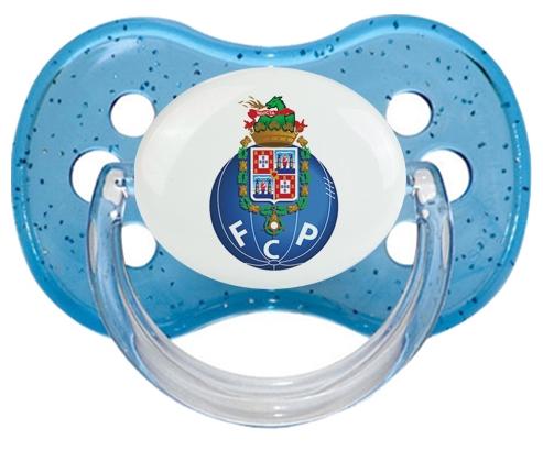 Futebol Clube do Porto + prénom : Bleu à paillette embout cerise