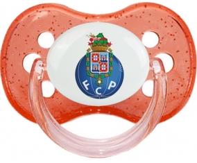 Futebol Clube do Porto + prénom : Rouge à paillette embout cerise