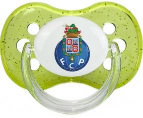 Futebol Clube do Porto + prénom : Vert à paillette embout cerise