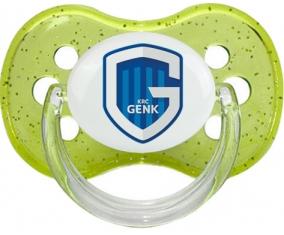 KRC Genk + prénom : Vert à paillette embout cerise