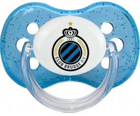 Club Brugge KV + prénom : Bleu à paillette embout cerise