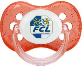 FC Lugano + prénom : Rouge à paillette embout cerise