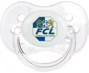 FC Lugano + prénom : Transparent classique embout cerise