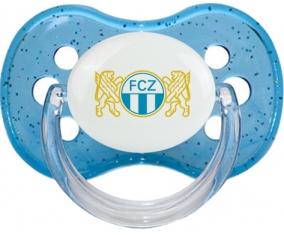FC Zürich + prénom : Bleu à paillette embout cerise