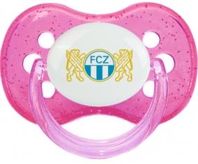 FC Zürich + prénom : Rose à paillette embout cerise