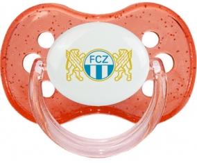 FC Zürich + prénom : Rouge à paillette embout cerise