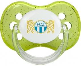 FC Zürich + prénom : Vert à paillette embout cerise