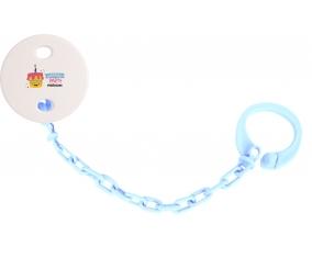 Attache-tototte Birthday party style 2 + prénom couleur Bleu ciel