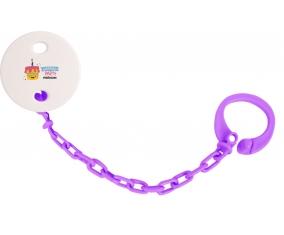 Attache tototte Birthday party style 2 + prénom couleur Violet