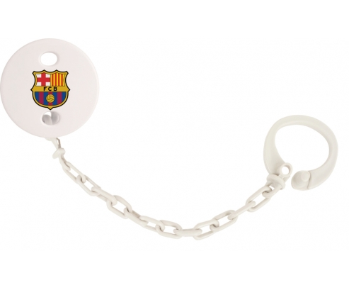 Attache tototte FC Barcelone couleur Blanc