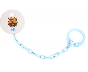 Attache-tétine FC Barcelone couleur Bleu ciel