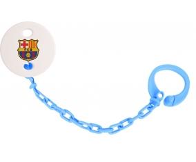Attache-tétine FC Barcelone couleur Bleu turquoise