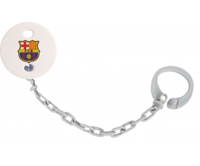 Attache-sucette FC Barcelone couleur Grise