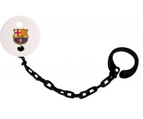 Attache tétine FC Barcelone couleur Noire