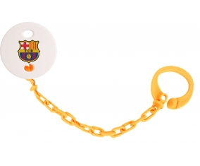 Attache sucette FC Barcelone couleur Orange