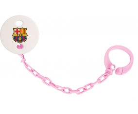 Attache tototte FC Barcelone couleur Rose clair