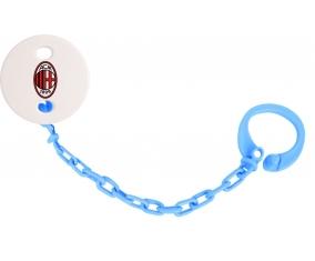 Attache tétine Ac Milan couleur Bleu turquoise
