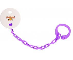 Attache sucette Halloween style 2 couleur Violet