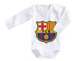 Body bébé FC Barcelone 6/12 mois manches Longues