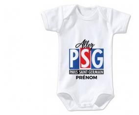 Body bébé Allez Paris saint-germain + prénom 12/18 mois manches Courtes