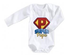 Body bébé Super Papa 3/6 mois manches Courtes