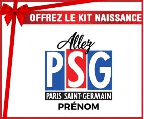Kit naissance Allez Paris saint-germain + prénom personnalisé pour bébé