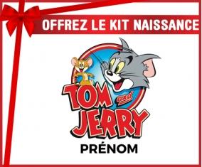 Kit naissance Tom & Jerry + prénom personnalisé pour bébé
