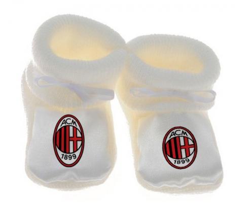 Chausson bébé Ac Milan de couleur Blanc