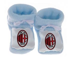 Chausson bébé Ac Milan de couleur Bleu