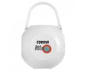 Corona don't touch me : Boîte à sucette de couleur Blanche