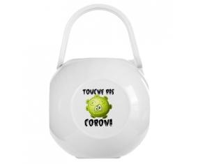 Touche pas Corona : Boîte à sucette de couleur Blanche