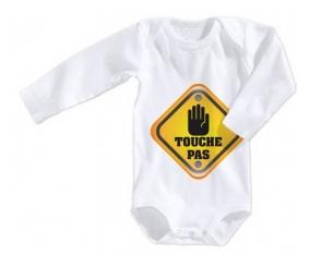 Interdit : touche pas : Body Bébé 3/6 mois manches Courtes