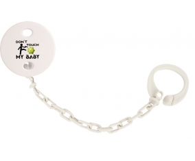 Corona Don't touch my baby : Attache-sucette couleur Blanc